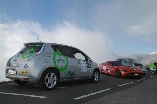 Nissan Leaf auf der Edelweißspitze